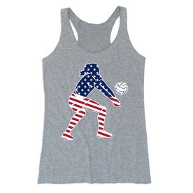 Volleyball Women's Everyday Tank Top - Volleyball Stars and Stripes Player