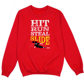 Softball Crew Neck Sweatshirt - Hit Run Steal Slide
