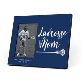Guys Lacrosse Photo Frame - Lacrosse Mom Script
