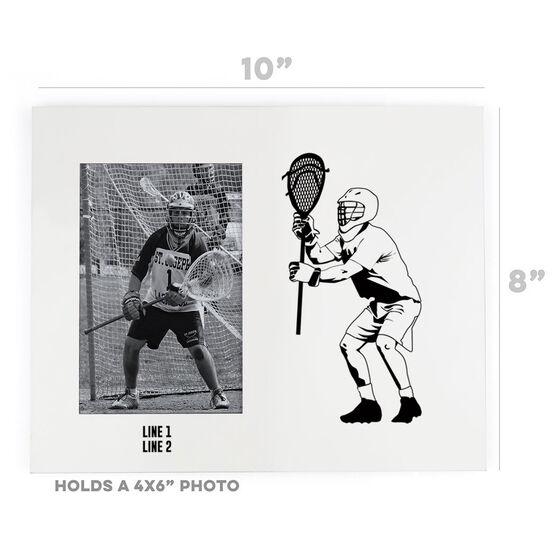 Guys Lacrosse Photo Frame - Goalie