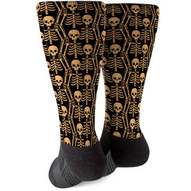 Printed Mid-Calf Socks - Skeletons