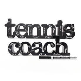 Tennis Coach Wood Words Ready To Autograph