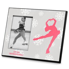 Figure Skating Photo Frame Snowflake Silhouette