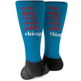 Baseball Printed Mid-Calf Socks - Mantra Chicago