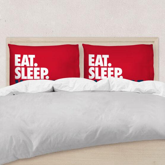 Wrestling Pillowcase - Eat Sleep Wrestle