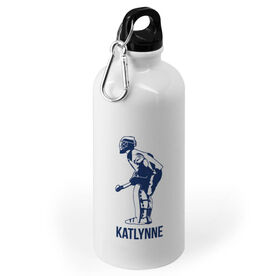 Field Hockey 20 oz. Stainless Steel Water Bottle - Field Hockey Goalie Silhouette