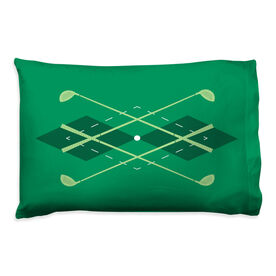 Golf Pillowcase - Argyle