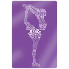 "Figure Skating 18"" X 12"" Aluminum Room Sign - Personalized Figure Skating Words"