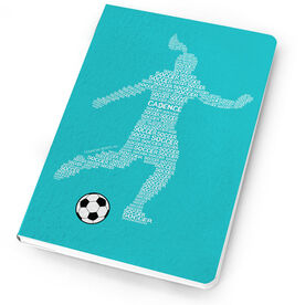 Soccer Notebook - Personalized Soccer Words Girl