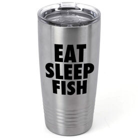 Fly Fishing 20 oz. Double Insulated Tumbler - Eat Sleep Fish