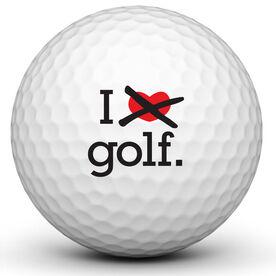 I Love Hate Golf Golf Ball