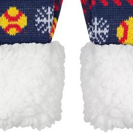 Softball Sherpa Mittens - Snowflake