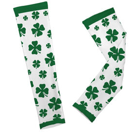 Printed Arm Sleeves Lucky Clover