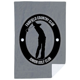Golf Premium Blanket - Personalized Crest