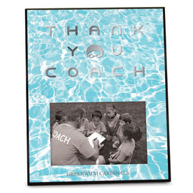 Swimming Photo Frame Thank You Coach