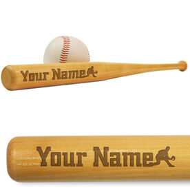 Baseball Mini Engraved Bat Personalized Silhouette