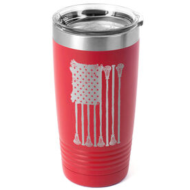 Guys Lacrosse 20 oz. Double Insulated Tumbler - Lax Flag