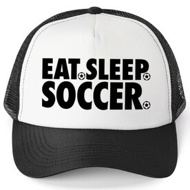 Soccer Trucker Hat - Eat Sleep Soccer