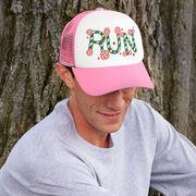 Running Trucker Hat - Candy Cane Run