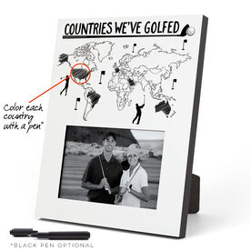Golf Photo Frame - Countries We've Golfed Outline