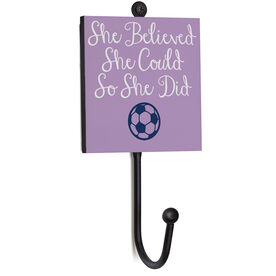 Soccer Medal Hook - She Believed She Could So She Did