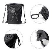 Softball Sport Pack Cinch Sack - Softball Batter Sketch