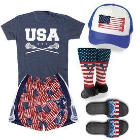 Patriotic Lacrosse Outfit