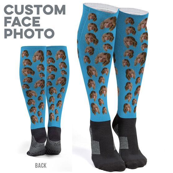 b7a1bfe2e5d Images. Printed Knee-High Socks - Custom Face Photo Click to Enlarge