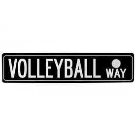 "Volleyball Aluminum Room Sign - Volleyball Way (4""x18"")"