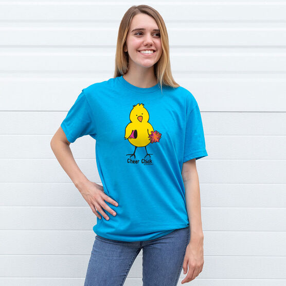 Cheerleading Tshirt Short Sleeve Cheer Chick Tall