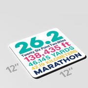 """Running 12"""" X 12"""" Removable Wall Tile - 26.2 Math Miles"""