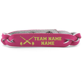 Field Hockey Leather Engraved Bracelet Personalized