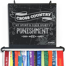 BibFOLIO Plus Race Bib and Medal Display - My Sport Is Your Sport's Punishment