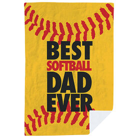 Softball Premium Blanket - Best Dad Ever