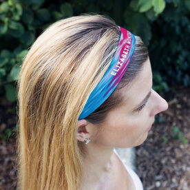 Athletic Juliband No-Slip Headband - Personalized Tie Dye Text