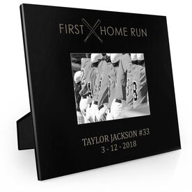 Baseball Engraved Picture Frame - First Home Run