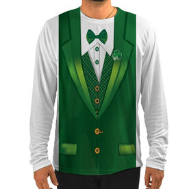 Men's Running Customized Long Sleeve Tech Tee Lucky Leprechaun