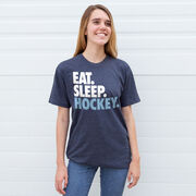 Hockey T-Shirt Short Sleeve Eat. Sleep. Hockey.