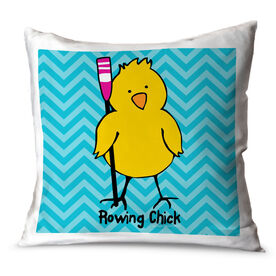 Crew Throw Pillow Rowing Chick Chevron