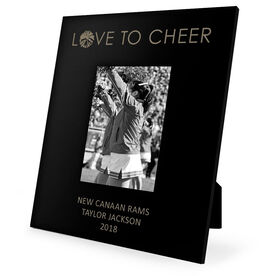 Cheerleading Engraved Picture Frame - Love to Cheer