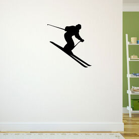 Skiing Removable ChalkTalkGraphix Wall Decal - Downhill Skier