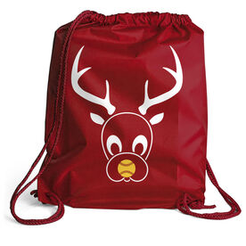 Softball Sport Pack Cinch Sack - Reindeer