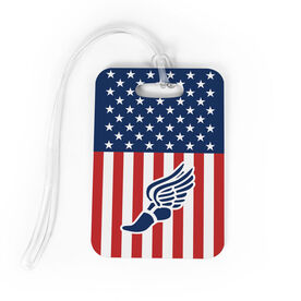 Track and Field Bag/Luggage Tag - USA Track