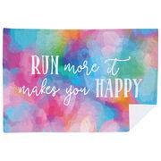 Running Premium Blanket - Run More It Makes You Happy