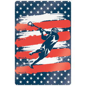 "Guys Lacrosse 18"" X 12"" Aluminum Room Sign - USA Laxer"
