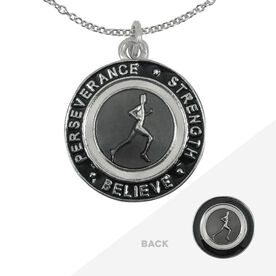 Runner's Creed Pendant Necklace - 2.3cm Grey/Black