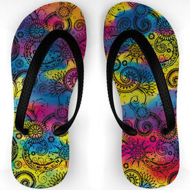 Swimming Flip Flops Tie Dye Summer