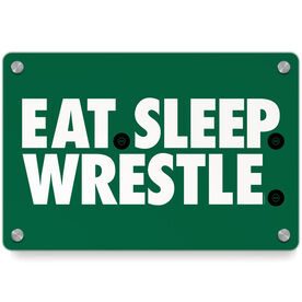 Wrestling Metal Wall Art Panel - Eat Sleep Wrestling