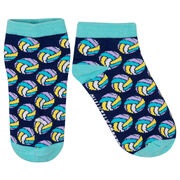 Volleyball Ankle Socks - Colorful Volleyballs