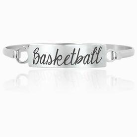 Basketball Engraved Clasp Bracelet Basketball